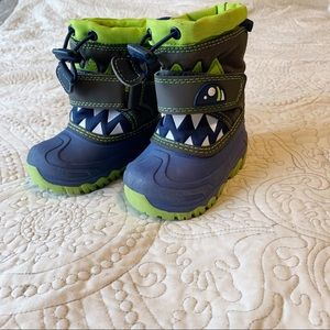 Cat & Jack Play Boots Toddler sz 4 Rugged Monster